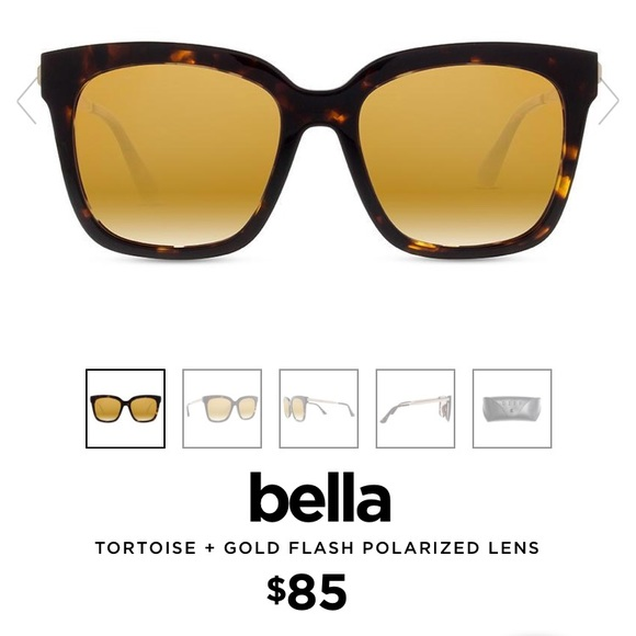 a25d58fe6e8 DIFF BELLA Tortoise + Gold Flash Sunglasses